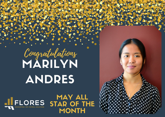 May's All-Star Employee of the Month: Marilyn Andres San Diego Accounting Services