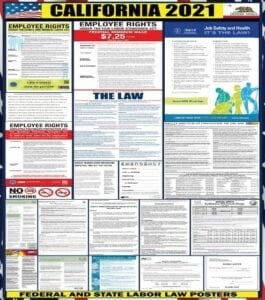 2021 California Labor Poster Update San Diego Accounting Services